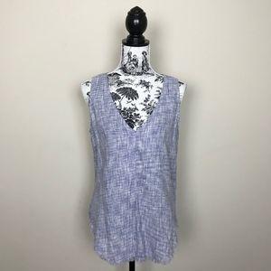 NWOT Anthropologie Cloth & Stone Frayed Hem Top
